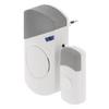 AC Plug-In Vezeték Nélküli Csengő Szett 70 dB Fehér/Szürke