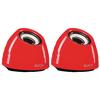 Hangszóró 2.1 USB 3.5 mm 6 W Piros