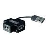 4-Port Elosztó USB 2.0 Fekete