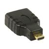 Nagy Sebességű HDMI Adapter Ethernettel HDMI micro Dugasz - HDMI Aljzat Fekete