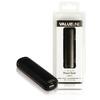 Hordozható Külső Akkumlátor 2200 mAh USB Fekete