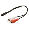 Sztereó Audio Kábel 2x RCA Dugó - 3.5 mm-es Aljzat 0.20 m Fekete