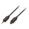 Digitális Audio Kábel Toslink Dugó - 3.5 mm-es Optikai Csatlakozó 1.00 m Fekete