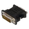 DVI-Adapter DVI-I 24+5-Pólusú Dugó - VGA Aljzat Fekete