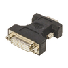 VGA-Adapter VGA Dugó - DVI-I 24+5p Aljzat Fekete