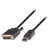 DisplayPort Kábel DisplayPort Dugó - DVI-D 24+1p Tűs 1.00 m Fekete