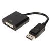 DisplayPort Kábel DisplayPort Dugó - DVI-D 24+1-Pólusú Aljzat 0.20 m Fekete