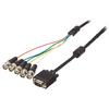 VGA Kábel VGA Dugó - 5x BNC Dugó 2.00 m Fekete