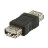 USB 2.0 Adapter USB A Aljzat - USB A Aljzat Fekete