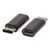 USB 2.0 Adapter USB-C Dugó - USB Micro B Dugó Fekete