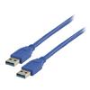 USB 3.0 Kábel USB A Dugó - USB A Dugó Kerek 1.00 m Kék
