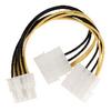 Belső Tápkábel EPS 8-Pin Dugó - 2x Molex Dugó 0.15 m