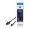 High Speed HDMI-kabel met ethernet HDMI-connector - HDMI micro-connector 1,00 m zwart