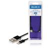 Szinkron és Töltő Kábel Apple Lightning - USB A Dugó 1.00 m Fekete