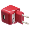 USB-lader USB A female - AC-huisaansluiting rood