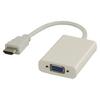 Nagy Sebességű Hdmi Kábel HDMI Csatlakozó - VGA Aljzat 0.20 m Fehér