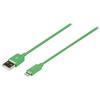Szinkron és Töltő Kábel Apple Lightning - USB A Dugó 2.00 m Zöld