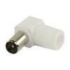 Koax Dugasz PVC Fehér