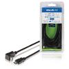 Nagy Sebességű Hdmi Kábel Ethernettel HDMI Csatlakozó - HDMI Csatlakozó 90°-os Szög 3.00 m Fekete