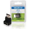 Nagy Sebességű HDMI Adapter Ethernettel Könyök 90 ° HDMI Csatlakozó - HDMI Aljzat Fekete