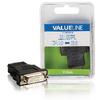 Nagy Sebességű HDMI Adapter Ethernettel HDMI Csatlakozó - DVI-D 24+1-Pólusú Aljzat Fekete