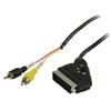 SCART Kábel SCART Dugó - 2x RCA Dugó 2.00 m Fekete