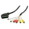 SCART Kábel SCART Dugó - 6x RCA dugó 2.00 m Fekete