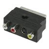 SCART-Adapter Kapcsolható SCART Dugó - S-Video Aljzat + 3 db RCA Aljzat Fekete