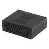 SCART-Adapter SCART Aljzat - SCART Aljzat Fekete