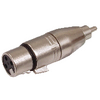 XLR-Adapter RCA Dugó - XLR 3-Pólusú Aljzat Ezüst