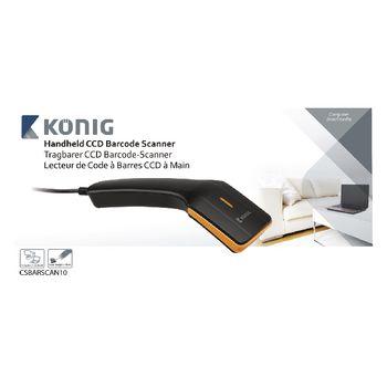 Barcode Scanner CCD 1D Linear Black | Konig