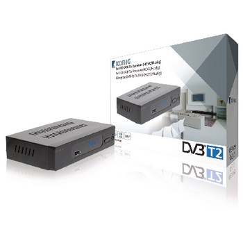 FULL HD DVB-T2 RECEIVER 1080P HEVC H.265 FREE TO AIR (FTA)
