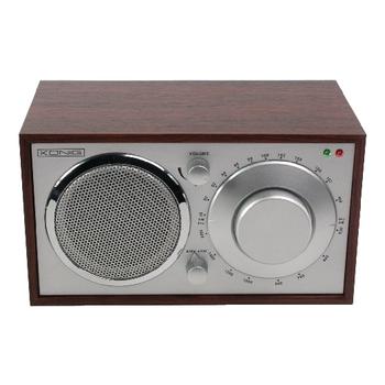Retro design AM/FM table radio cherry | Konig