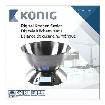 Kitchen Scale Silver Lcd Konig