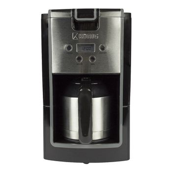 THERMOS JUG KONIG KN-COF10S 800W 10 CUP COFFEE MAKER BLACK SILVER 24 HR TIMER