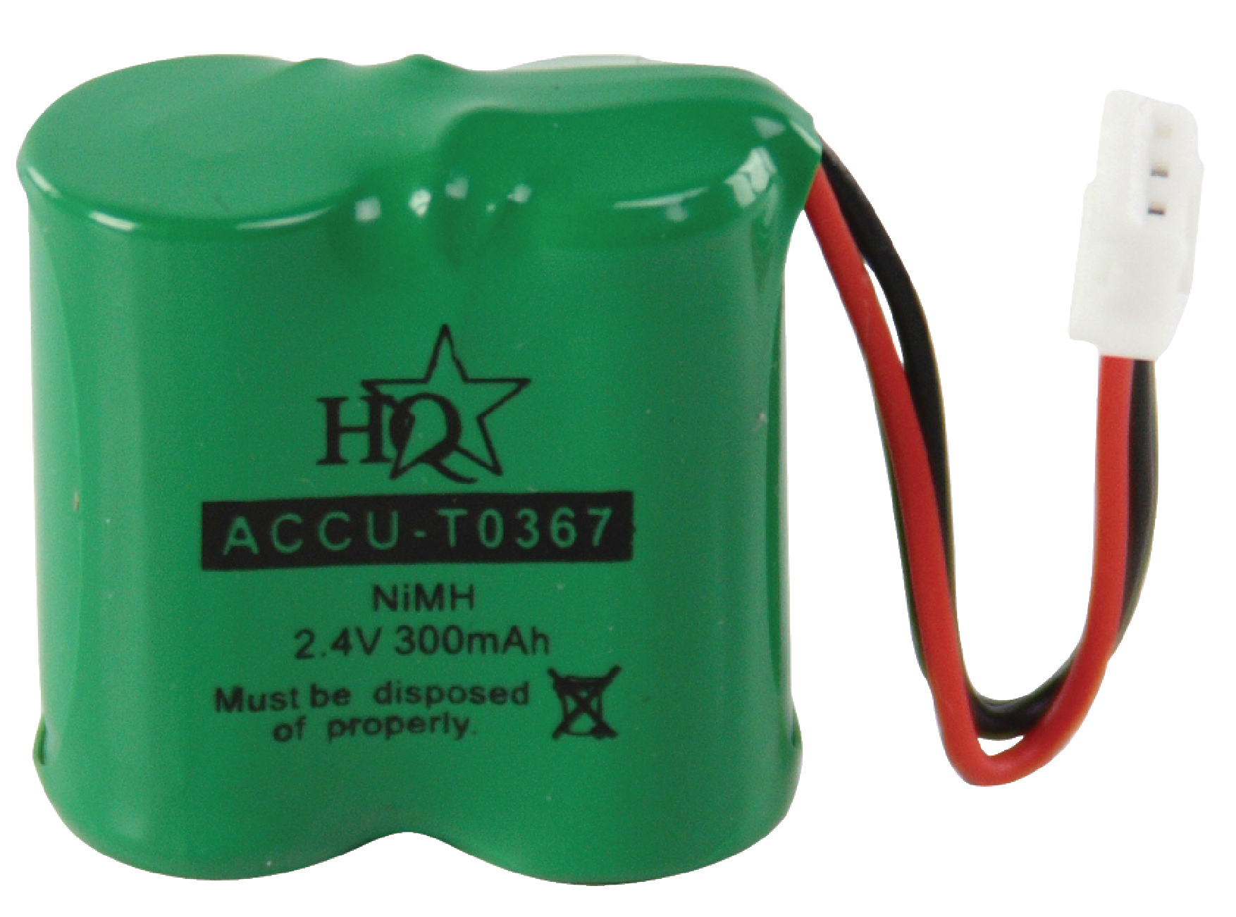 ACCU-T0367 - HQ - Rechargeable NiMH Battery Pack 2.4 V 300