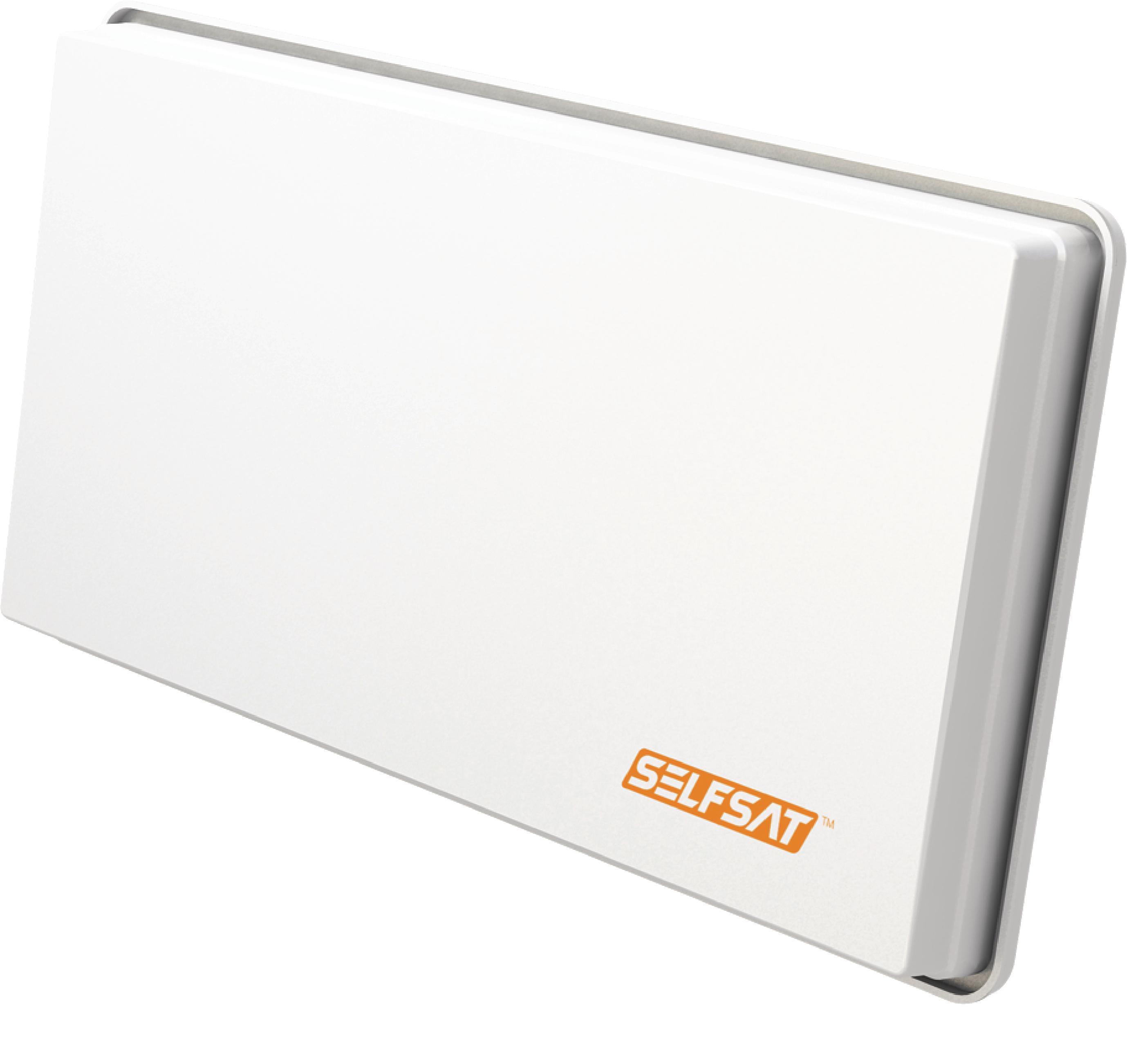 H30D2 FLAT SATELLITE DISH TWIN LNB WHITE