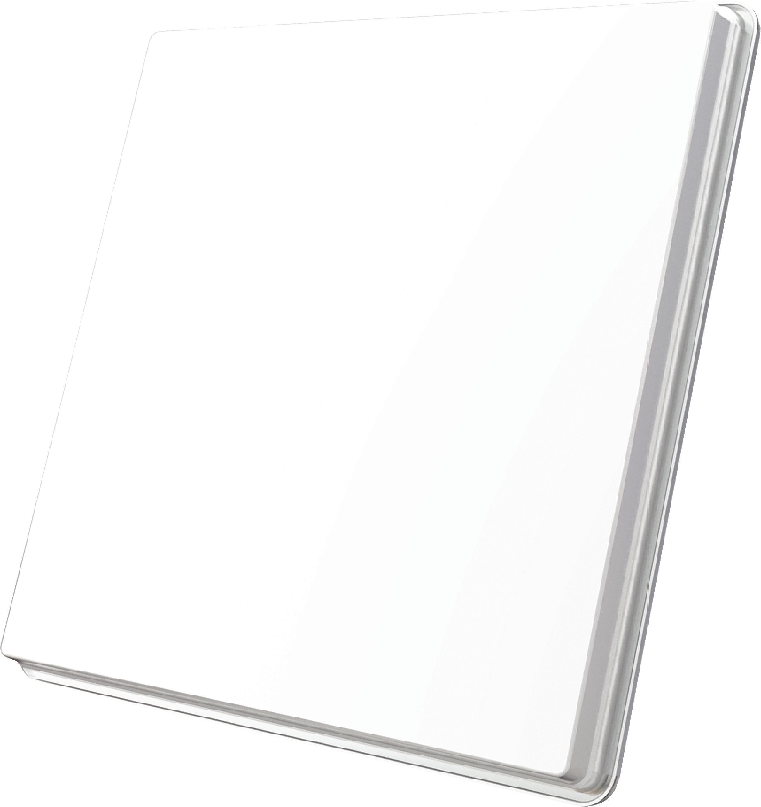 H50D2 FLAT SATELLITE DISH TWIN LNB WHITE