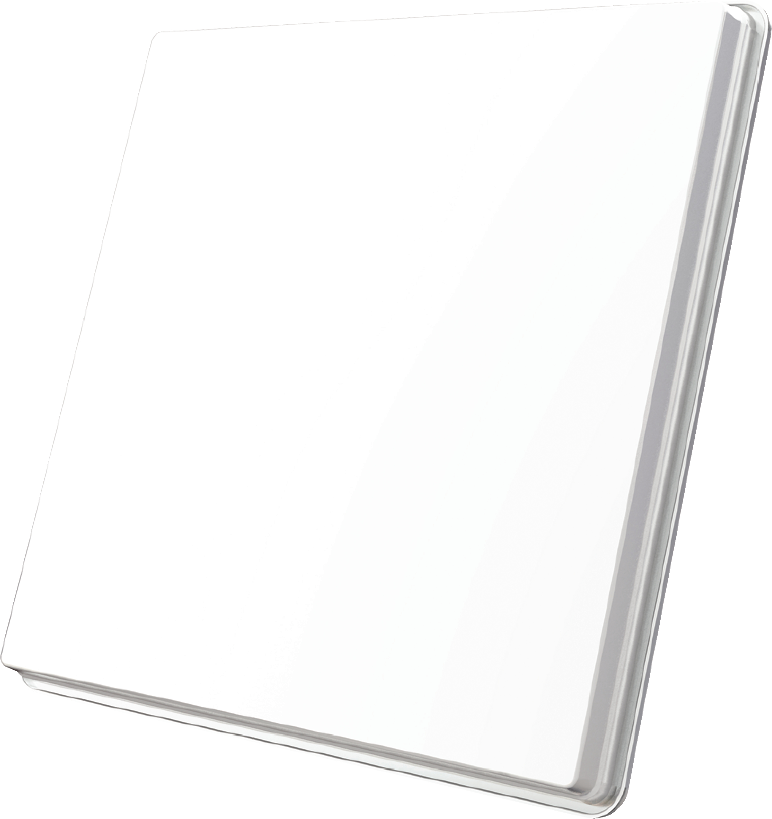 H50D4 FLAT SATELLITE DISH QUAD LNB WHITE