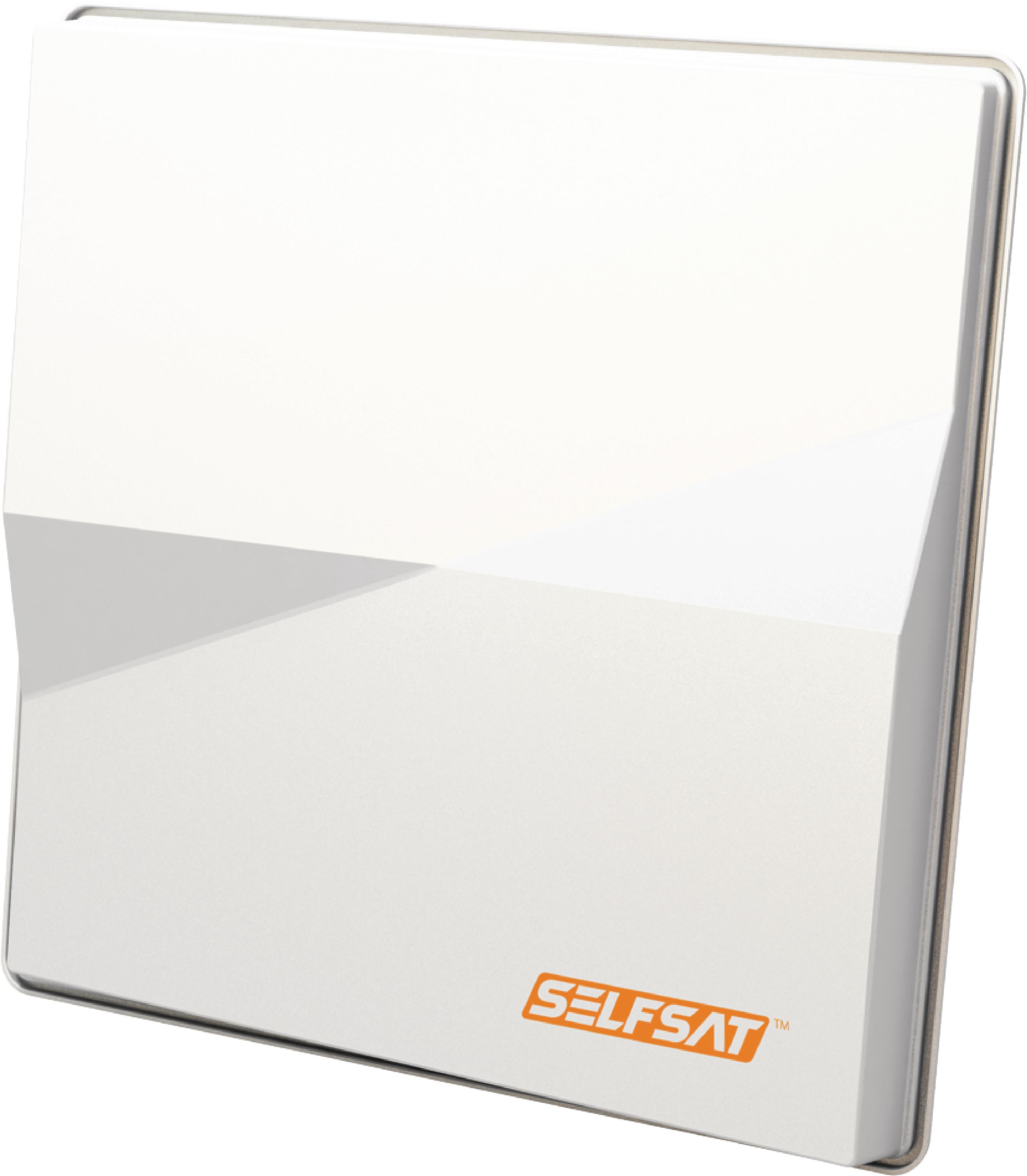 H50M2 FLAT SATELLITE DISH TWIN LNB WHITE