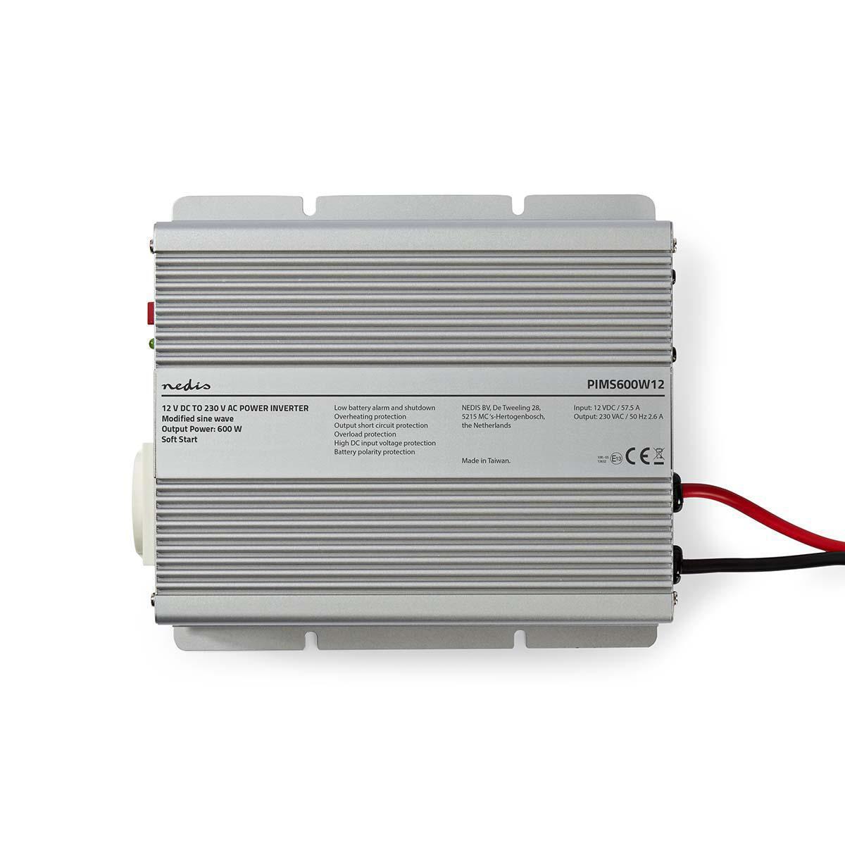 Power Inverter Modified Sine Wave | 12 V DC - 230 V AC | 600