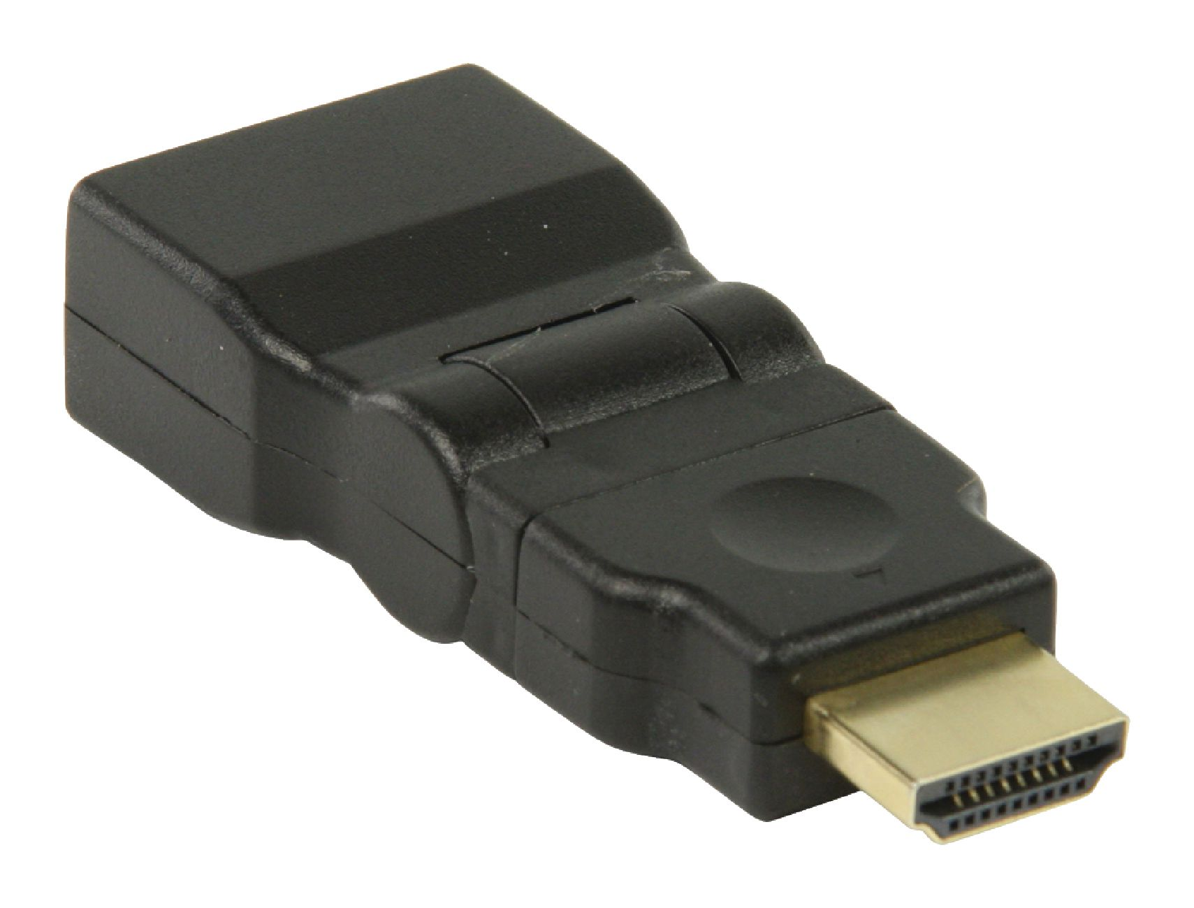 VGVP34905B High Speed HDMI met Ethernet Adapter Zwenkbaar HDMI-Connector - HDMI Female Zwart